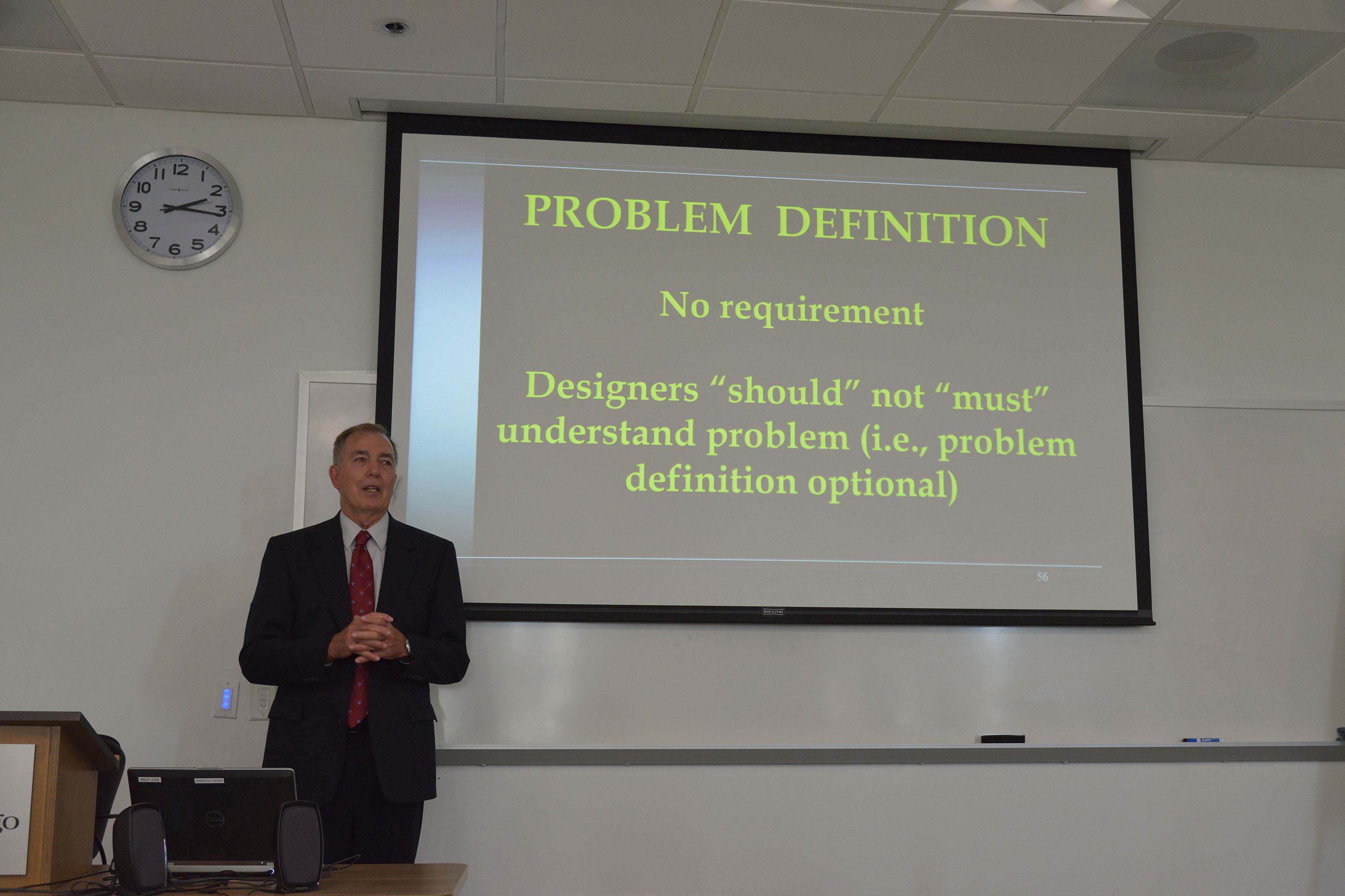 David Schrunk, MD, presenting Quality Standards for Law Engineering